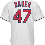 Trevor Bauer Jersey – Cleveland Indians Replica Adult Home Jersey