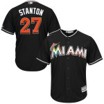 Giancarlo Stanton Jersey – Miami Marlins Replica Adult Black Alt Jersey