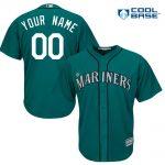 Seattle Mariners Replica Personalized Green Alt Jersey