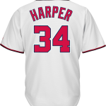 Bryce Harper Washington Nationals Replica Adult Home Jersey