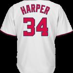 Bryce Harper Washington Nationals Replica Adult Home Jersey