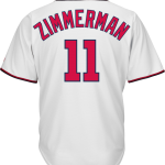 Ryan Zimmerman Washington Nationals Replica Adult Home Jersey