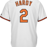 J.J. Hardy Baltimore Orioles Replica Adult Home Jersey