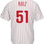 Carlos Ruiz Jersey – Philadelphia Phillies Replica Adult Home Jersey