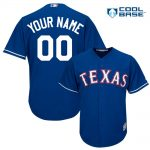 Texas Rangers Replica Personalized Royal Blue Alt Jersey