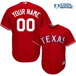Texas Rangers Replica Personalized Red Alt Jersey