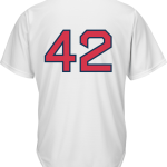 Jackie Robinson Day 42 Youth Jersey – Boston Red Sox Replica Kids Home Jersey