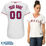 LA Angels Replica Personalized Ladies Home Jersey