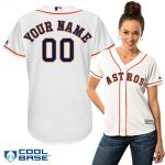 Houston Astros Replica Personalized Ladies Home Jersey