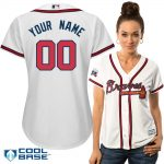 Atlanta Braves Replica Personalized Ladies Home Jersey