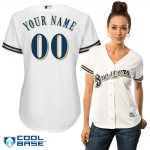 Milwaukee Brewers Replica Personalized Ladies Home Jersey