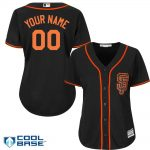 SF Giants Replica Personalized Ladies Black Jersey