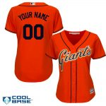 SF Giants Replica Personalized Ladies Orange Jersey