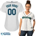 Seattle Mariners Replica Personalized Ladies Home Jersey