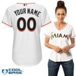 Miami Marlins Replica Personalized Ladies Home Jersey