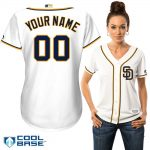 San Diego Padres Replica Personalized Ladies Home Jersey