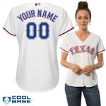 Texas Rangers Replica Personalized Ladies Home Jersey