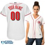 Cincinnati Reds Replica Personalized Ladies Home Jersey