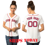 Boston Red Sox Replica Personalized Ladies Home Jersey