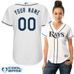 Tampa Bay Rays Replica Personalized Ladies Home Jersey