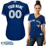 Toronto Blue Jays Replica Personalized Ladies Blue Alt Jersey