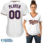 Minnesota Twins Replica Personalized Ladies Home Jersey