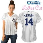 Starlin Castro NY Yankees Replica Ladies Home Jersey