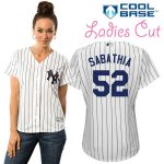 CC Sabathia NY Yankees Replica Ladies Home Jersey