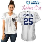 Mark Teixeira NY Yankees Replica Ladies Home Jersey