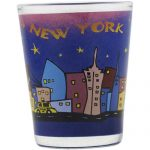 NYC Skyline Purple Shot Glass