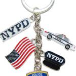 NYPD Dangle Key Ring with Charms