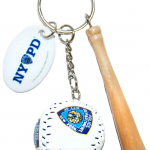 NYPD Baseball 3D Key Ring with Bat & Tag