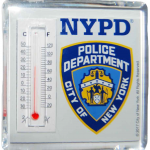 NYPD White Thermometer Magnet