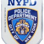 NYPD White Memo Clip Magnet