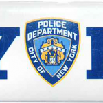 NYPD White Panoramic Postcard Magnet