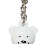 NYPD White/ Logo Bear Key Ring