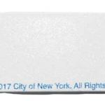 NYPD White/ Logo 7″ Nail File