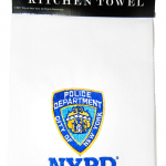 NYPD White/ Logo Kitchen Towel