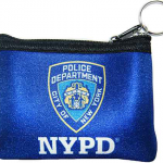 NYPD Blue Neoprene Coin Purse with Logo and Zipper