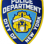 NYPD Blue Shield Laser Cut Rubber Magnet
