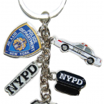 NYPD Dangle Key Ring