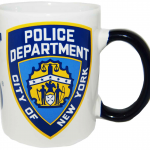NYPD White/ Blue Handle Mini Mug