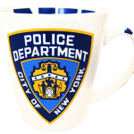 NYPD White All Over Printed Java Mug