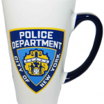 NYPD White/ Blue Handle Logo/ Shield Java Mug