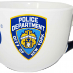 NYPD White/ Blue Handle Logo/ Shield Soup Mug