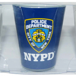 NYPD White/ Blue Clear Shield Shot Glass 3PC Set