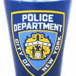 NYPD Clear with Blue Wrap Logo/ Shield Shot Glass