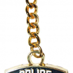 NYPD Blue Shield Gold Plated Key Ring