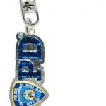 NYPD Logo Magic Glitter Key Ring with Tag
