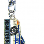 NYPD Police Car Magic Glitter Key Ring with Tag